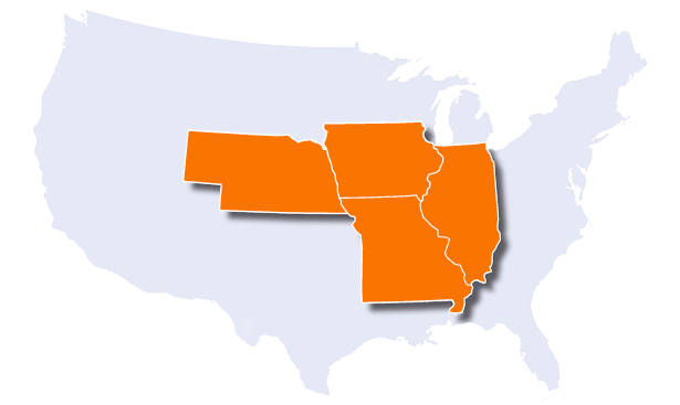 US Map to Contact Managers