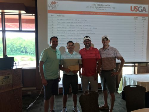 Golfers at MIB golf event