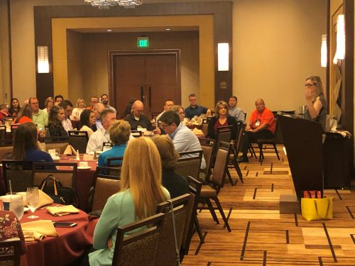 conference attendees listening to presentation at the MIB Community Banking Conference