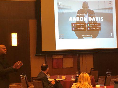 Aaron Davis presenting at MIB Community Banking Conference
