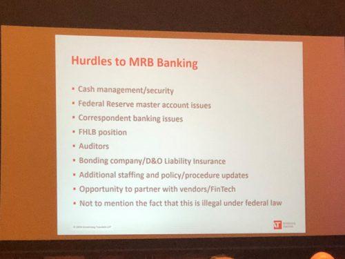 Hurdles to MRB Banking