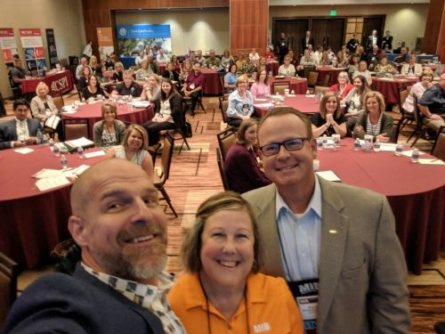 Eric Cook Donna Harden Chris Bryan selfie at the MIB Community Banking Conference