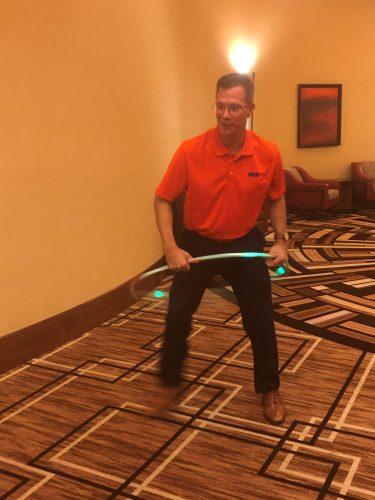 Ron Hobson hula hooping
