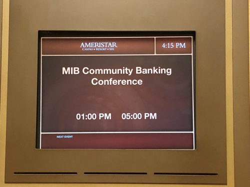 MIB Community Banking Conference at the Ameristar Casino