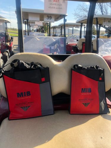 MIB FBBS goodie bags in golf cart