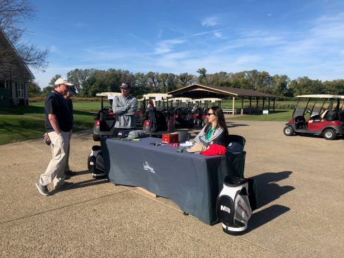MIB table at golf event