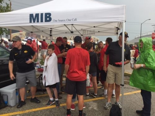 MIB tent with participants